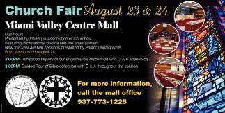 Church Fair August 23 & 24