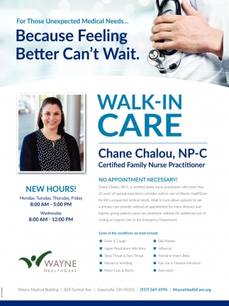 Chane Chalou, NPC Certified Family nurse Practitiones