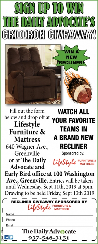 Sign up to win the Daily Advocate's