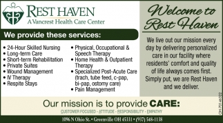 Our mission is to Provide Care