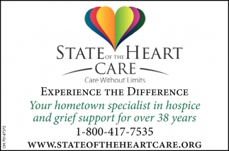 Your hometown specialist in hospice and grief support for over 38 years