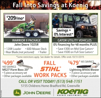 Fall Into Savings at Koenig