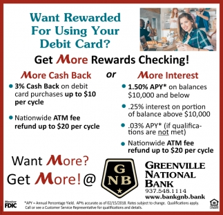 Get more rewards checking!
