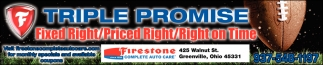 Triple Promise: Fixed Right / Priced Right / Right in Time
