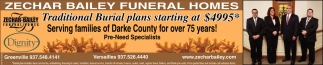 Traditional burial plans starting at $4995*