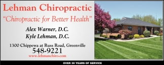 Chiropractic for Better Health