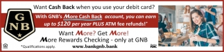 More cash back
