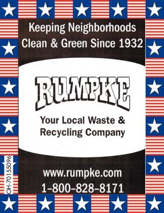 Keeping Neighborhoods Clean & Green Since 1932