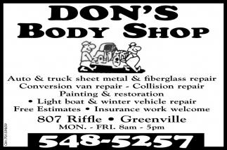 Auto & Truck Sheet Metal