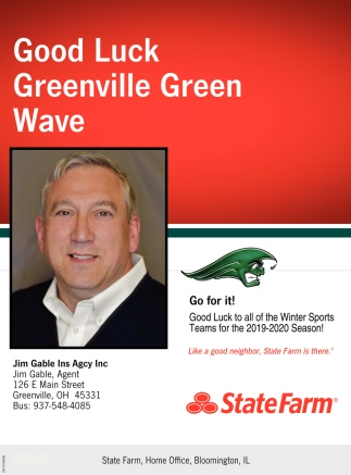 Good Luck Greenville Green Wave