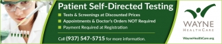 Patient Self-Directed Testing