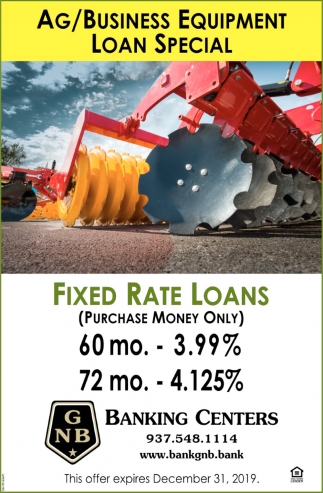 AG/Business Equipment Loan Special