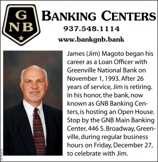 James (Jim) Magoto - Open House