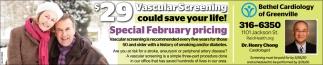 $29 Vascular Screening