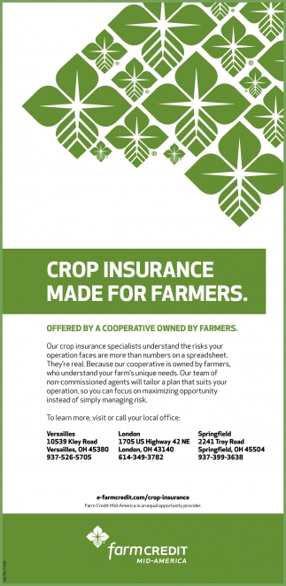 Crop Insurance Made For Farmers