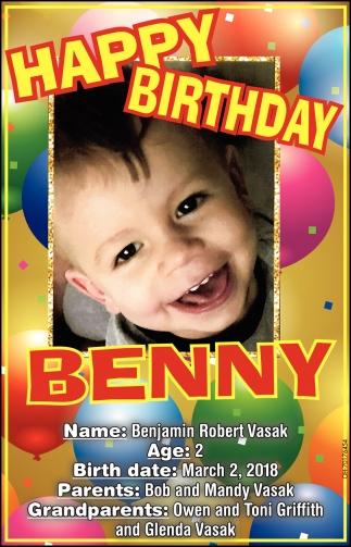 Happy Birthday Benny