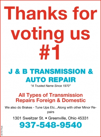 Thanks for voting us #1