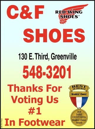 Thanks For Voting Us #1 In Footwear