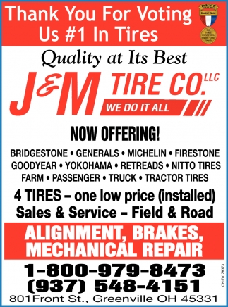 Thank You For Voting Us #1 In Tires