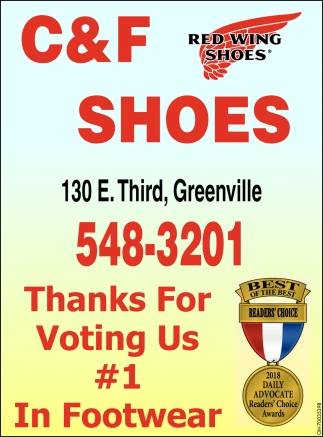 Thanks for voting us 1 In Footwear