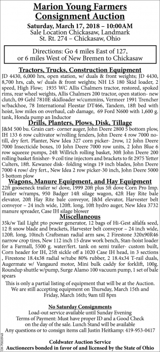Marion Young Farmers Consignment Auction