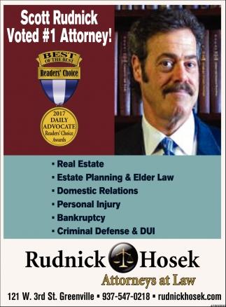 Scott Rudnick Voted 1 Attorney!