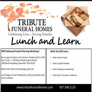 Celebrating Lives    Serving Families, Tribute Funeral Homes