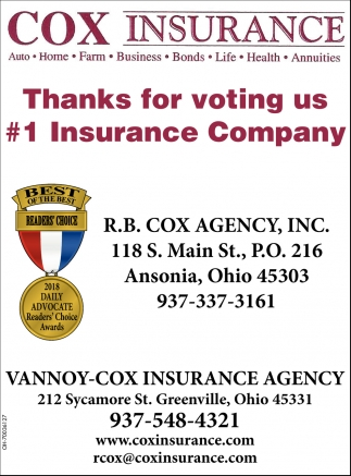 Thaks for voting us 1 Insurance Company