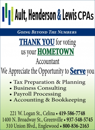Thank you for voting us your hometown accountant