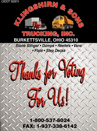 Thanks for voting for us!