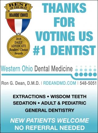 Thanks for voting us 1 dentist