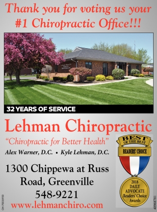 Thank youfor voting us your 1 Chiropractic Office