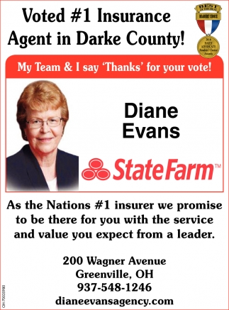 Voted 1 Insurance Agent in Darke County