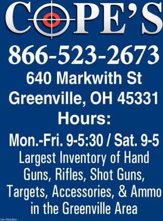 Hand Guns, Rifles, Shot Guns