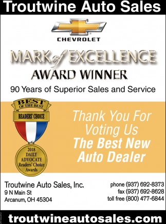 Thank for voting us The Best New Auto Dealer