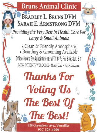Thanks For Voting Us The Best of The Best!