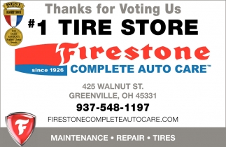 Thanks for voting us 1 tire store