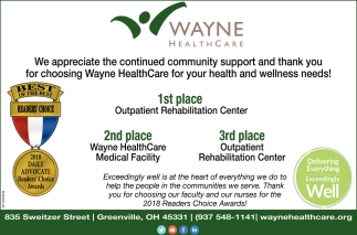 Thank you for choosing Wayne HealthCare