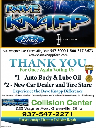 1 Auto Body & Lube Oil, 2 New Car Dealer and Tire Store