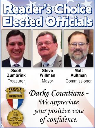Reader's Choice Elected Officials