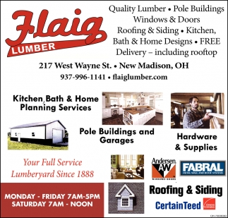 Pole Buildings, Windows and Doors, Lumber, Hardware