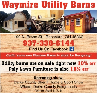 Gettin' some new Waymire Utility Barns in stock for the spring!