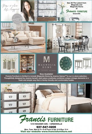 See All The Latest From Magnolia Home Francis Furniture