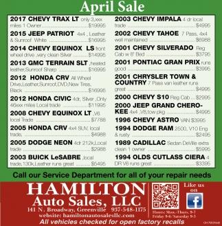 April Sale