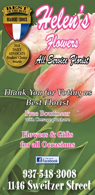 Thank you for voting us best florist