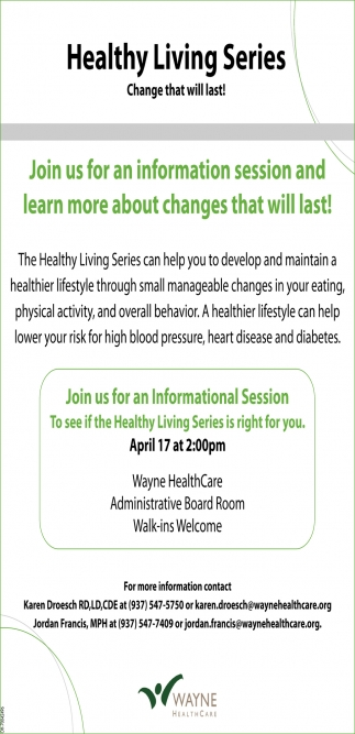 Healthy Living Series