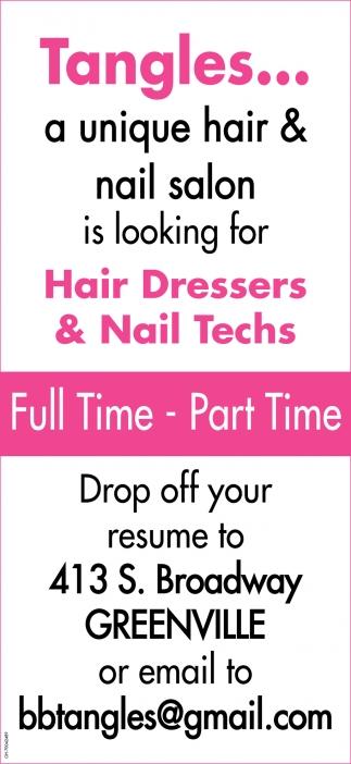 Hair Dressers & Nail Techs