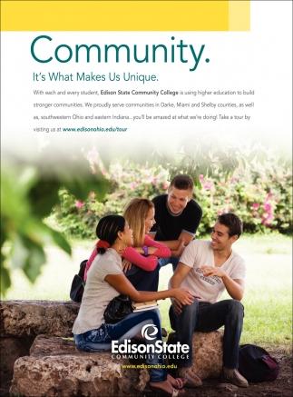 Community. It's What Makes Us Unique