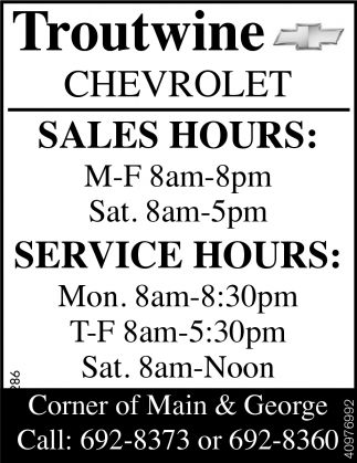 Sales Hours & Service Hours
