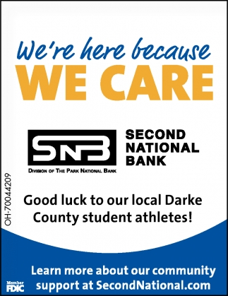 Good luck to our local Darke County student athletes!